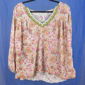 Open neck Free People Blouse